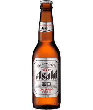 Super dry bottle beer